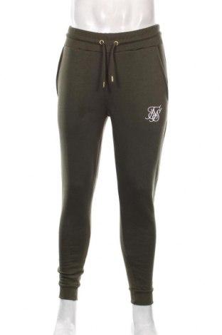 Мъжко спортно долнище SikSilk, Размер M, Цвят Зелен, 65% памук, 35% полиестер, Цена 51,75лв.