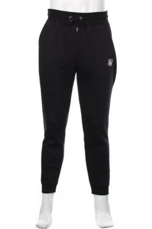 Мъжко спортно долнище SikSilk, Размер XL, Цвят Черен, 50% памук, 50% полиестер, Цена 51,75лв.