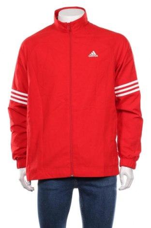 Мъжко спортно яке Adidas, Размер M, Цвят Червен, Полиестер, Цена 141,75лв.