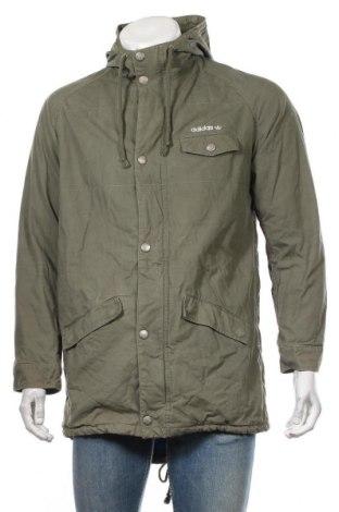 Мъжко яке Adidas, Размер M, Цвят Зелен, Памук, Цена 71,40лв.