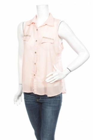 Γυναικείο πουκάμισο Miss Charm, Μέγεθος M, Χρώμα  Μπέζ, 100% πολυεστέρας, Τιμή 9,28€