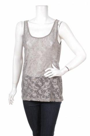 Γυναικείο αμάνικο μπλουζάκι Denim Hunter, Μέγεθος L, Χρώμα Γκρί, 92% πολυεστέρας, 8% ελαστάνη, Τιμή 2,97€