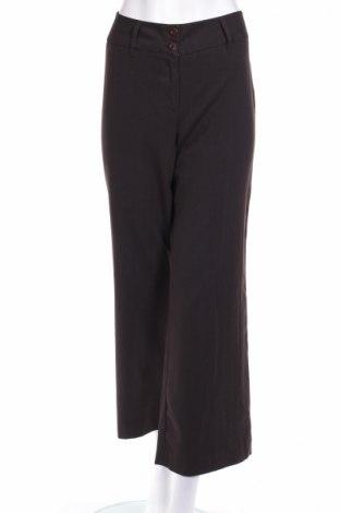 Дамски панталон Steve Ketell, Размер M, Цвят Кафяв, 63% полиестер, 34% вискоза, 3% еластан, Цена 9,73лв.