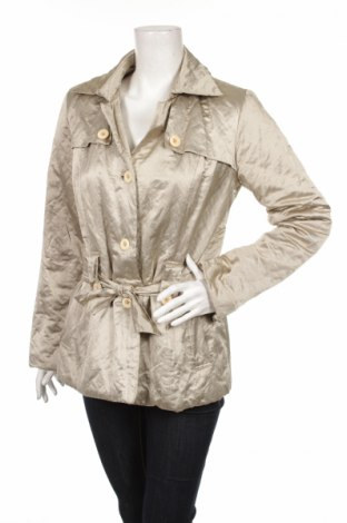 Дамско яке, Размер S, Цвят Бежов, 63% полиестер, 16% памук, 11% метал, 10% полиуретан, Цена 11,40лв.