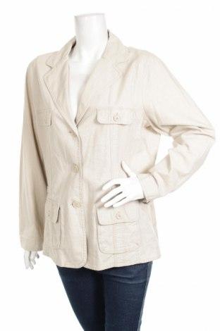 Дамско яке Biaggini, Размер XL, Цвят Бежов, 55% лен, 45% памук, Цена 64,00лв.