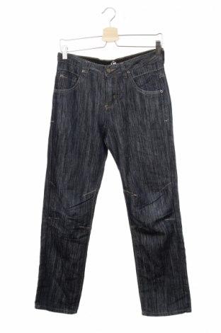 Детски дънки, Размер 12-13y/ 158-164 см, Цвят Син, 70% памук, 30% полиестер, Цена 10,00лв.