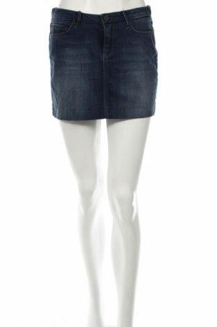 Пола Zara, Размер S, Цвят Син, 98% памук, 2% еластан, Цена 9,00лв.
