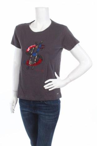 Дамска блуза Andy Warhol By Pepe Jeans, Размер M, Цвят Сив, Памук, полиамид, еластан, Цена 23,70лв.