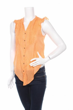 Дамска риза H&M L.o.g.g, Размер XS, Цвят Оранжев, Памук, Цена 5,25лв.