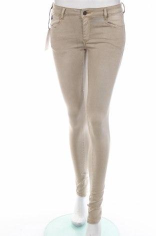 Дамски панталон Le Temps Des Cerises, Размер XS, Цвят Бежов, 74% памук, 22% полиестер, 4% еластан, Цена 14,90лв.
