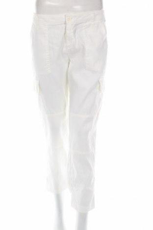 Дамски панталон Liu Jo, Размер M, Цвят Бял, 69% лен, 29% памук, 2% еластан, Цена 63,60лв.