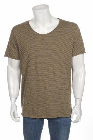 Мъжка тениска Selected Homme, Размер XL, Цвят Зелен, Памук, Цена 20,16лв.