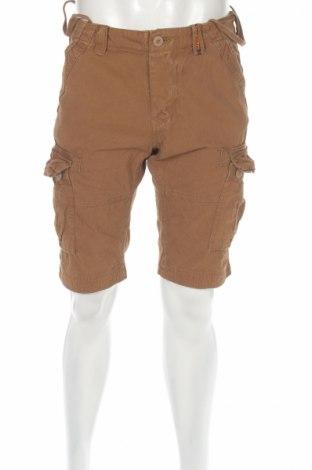 Мъжки къс панталон Superdry, Размер S, Цвят Кафяв, Памук, Цена 47,52лв.