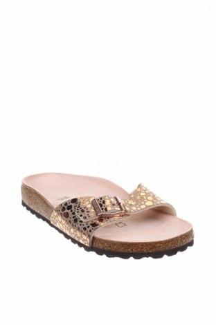Γυναικείες παντόφλες Birkenstock, Μέγεθος 35, Χρώμα Χρυσαφί, Δερματίνη, Τιμή 35,58€