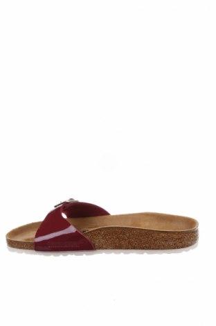 Γυναικείες παντόφλες Birkenstock, Μέγεθος 38, Χρώμα Κόκκινο, Δερματίνη, Τιμή 35,58€