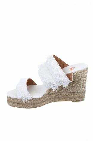 Γυναικείες παντόφλες Castaner, Μέγεθος 41, Χρώμα Λευκό, Κλωστοϋφαντουργικά προϊόντα, Τιμή 40,70€