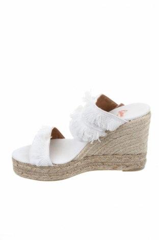 Γυναικείες παντόφλες Castaner, Μέγεθος 39, Χρώμα Λευκό, Κλωστοϋφαντουργικά προϊόντα, Τιμή 40,70€