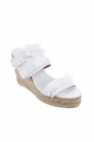 Γυναικείες παντόφλες Castaner, Μέγεθος 40, Χρώμα Λευκό, Κλωστοϋφαντουργικά προϊόντα, Τιμή 40,70€