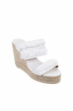 Γυναικείες παντόφλες Castaner, Μέγεθος 37, Χρώμα Λευκό, Κλωστοϋφαντουργικά προϊόντα, Τιμή 40,70€