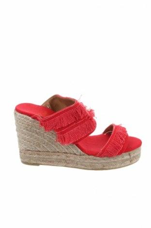 Γυναικείες παντόφλες Castaner, Μέγεθος 38, Χρώμα Κόκκινο, Κλωστοϋφαντουργικά προϊόντα, Τιμή 42,24€