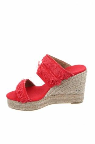 Γυναικείες παντόφλες Castaner, Μέγεθος 38, Χρώμα Κόκκινο, Κλωστοϋφαντουργικά προϊόντα, Τιμή 36,86€