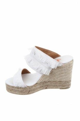 Γυναικείες παντόφλες Castaner, Μέγεθος 38, Χρώμα Λευκό, Κλωστοϋφαντουργικά προϊόντα, Τιμή 40,70€
