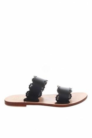 Γυναικείες παντόφλες, Μέγεθος 39, Χρώμα Μαύρο, Γνήσιο δέρμα, Τιμή 28,90€