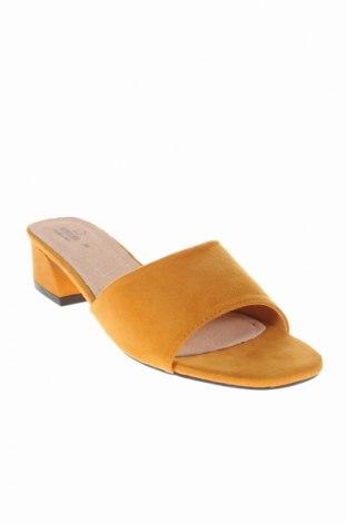 Γυναικείες παντόφλες Rodier, Μέγεθος 38, Χρώμα Κίτρινο, Κλωστοϋφαντουργικά προϊόντα, Τιμή 26,61€