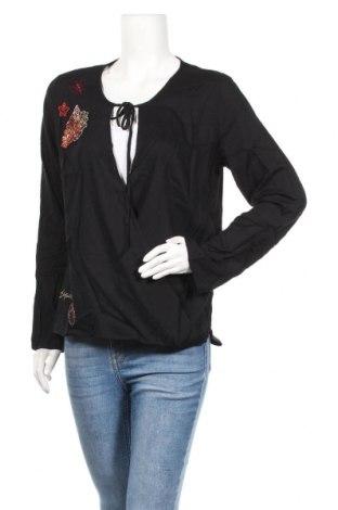 Дамска блуза Desigual, Размер XL, Цвят Черен, Вискоза, Цена 44,85лв.