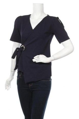 Дамска блуза In&Dit, Размер L, Цвят Син, 95% полиестер, 5% еластан, Цена 16,66лв.
