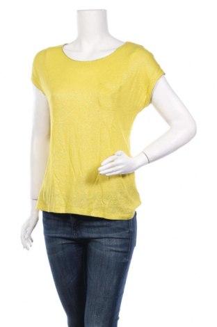 Дамска блуза Jacqueline Riu, Размер M, Цвят Жълт, 55% вискоза, 45% лен, Цена 23,10лв.