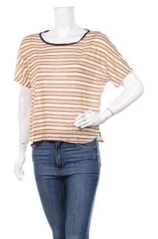 Дамска блуза La Fee Maraboutee, Размер M, Цвят Кафяв, 55% лен, 45% вискоза, Цена 44,85лв.