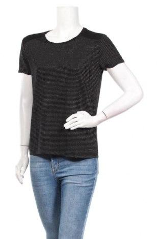 Дамска блуза Lee Cooper, Размер M, Цвят Черен, 80% полиестер, 10% еластан, 10% метални нишки, Цена 14,44лв.