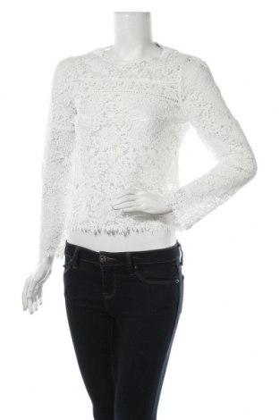 Дамска блуза Mango, Размер XS, Цвят Бял, Полиестер, Цена 29,40лв.