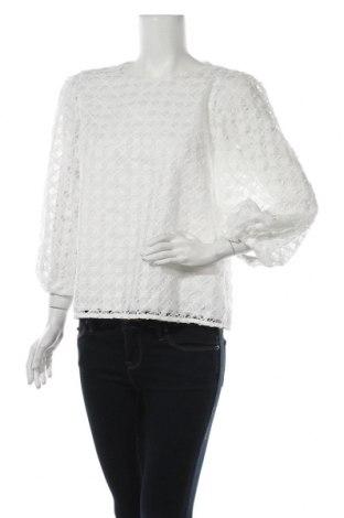 Дамска блуза Massimo Dutti, Размер L, Цвят Бял, Полиестер, Цена 43,40лв.