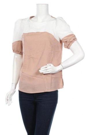 Γυναικεία μπλούζα Nife, Μέγεθος M, Χρώμα  Μπέζ, 98% πολυεστέρας, 2% ελαστάνη, Τιμή 16,24€