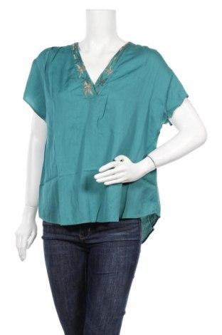 Γυναικεία μπλούζα Nitya, Μέγεθος L, Χρώμα Πράσινο, 55% πολυεστέρας, 45% βισκόζη, Τιμή 8,18€