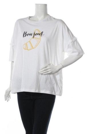 Γυναικεία μπλούζα Noisy May, Μέγεθος XL, Χρώμα Λευκό, Βαμβάκι, Τιμή 8,77€