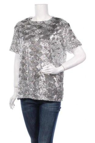 Дамска блуза Pimkie, Размер M, Цвят Сребрист, Полиестер, Цена 21,00лв.