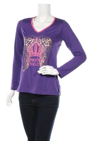 Дамска блуза Pompoos Design By Harald Gloockler, Размер S, Цвят Лилав, 90% полиестер, 10% еластан, Цена 15,49лв.