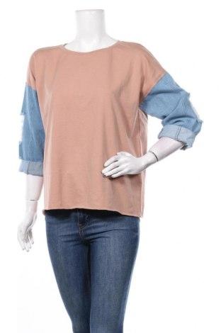 Дамска блуза Reserved, Размер L, Цвят Бежов, 65% полиестер, 30% памук, 5% еластан, Цена 30,45лв.