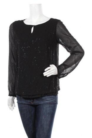 Дамска блуза S.Oliver, Размер M, Цвят Черен, Полиестер, Цена 41,30лв.