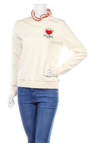 Дамска блуза Scotch & Soda, Размер M, Цвят Екрю, 55% памук, 40% полиестер, 5% еластан, Цена 74,25лв.