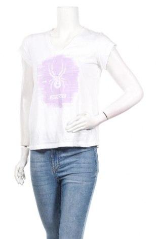 Дамска тениска Spyder, Размер S, Цвят Бял, 60% памук, 40% полиестер, Цена 44,25лв.