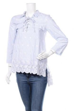 Дамска блуза TWINSET, Размер S, Цвят Бял, Памук, Цена 50,40лв.