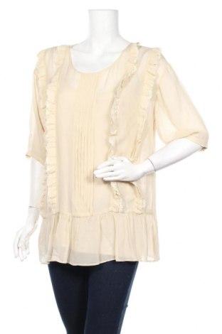 Дамска блуза TWINSET, Размер L, Цвят Бежов, Вискоза, Цена 70,85лв.