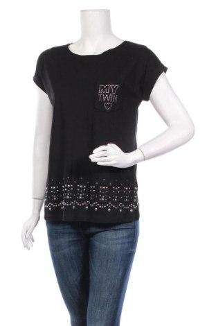 Дамска блуза TWINSET, Размер XS, Цвят Черен, Памук, Цена 59,80лв.