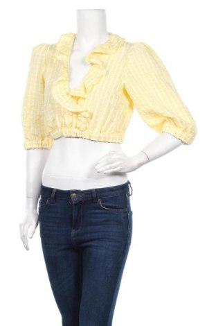 Γυναικεία μπλούζα Topshop, Μέγεθος M, Χρώμα Κίτρινο, 100% πολυεστέρας, Τιμή 4,95€