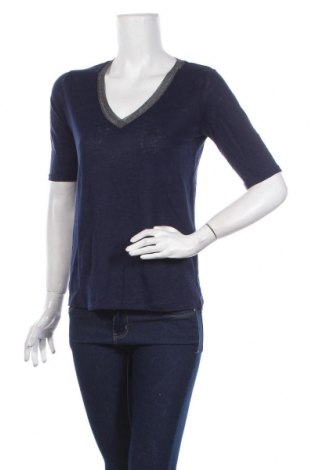 Дамска блуза Zapa, Размер S, Цвят Син, 100% лен, Цена 49,50лв.