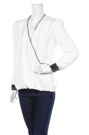 Дамска блуза Zapa, Размер M, Цвят Бял, Полиестер, еко кожа, Цена 26,82лв.